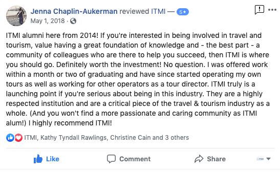tour guide training testimonial 1